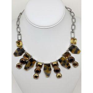 Lia Sophia Silver & Tortoise Necklace